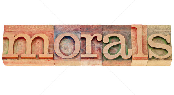 morals word in lettepress type Stock photo © PixelsAway