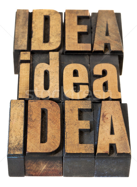 idea word abstract in wood type Stock photo © PixelsAway