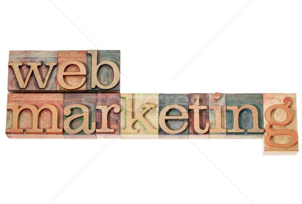 ウェブ マーケティング 孤立した 文字 ヴィンテージ ストックフォト © PixelsAway