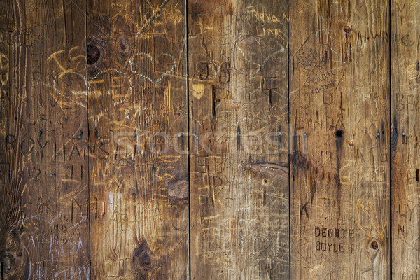 vandal graffiti on wood wall Stock photo © PixelsAway
