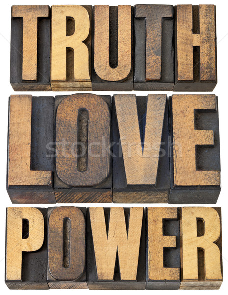 Prawda miłości moc rdzeń zasady kolaż Zdjęcia stock © PixelsAway