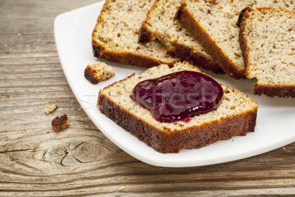 Glutensiz ekmek sağlıklı kahvaltı dilimleri taze Stok fotoğraf © PixelsAway