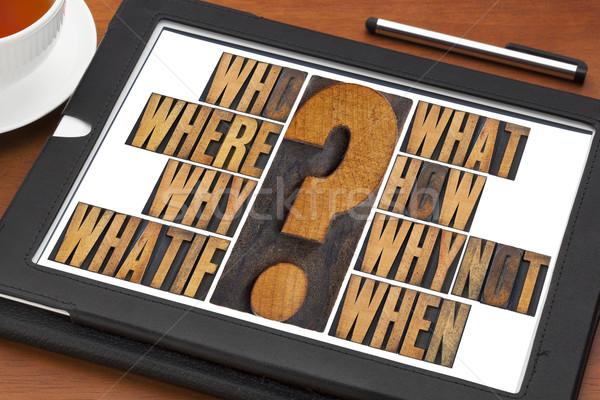 brainstorming questions Stock photo © PixelsAway