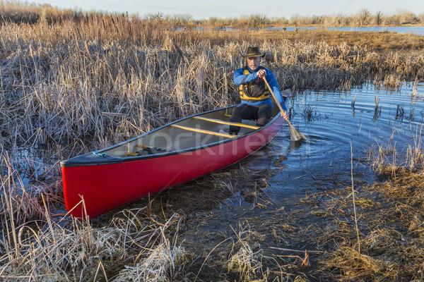 Kano bataklık kıdemli erkek kırmızı erken Stok fotoğraf © PixelsAway