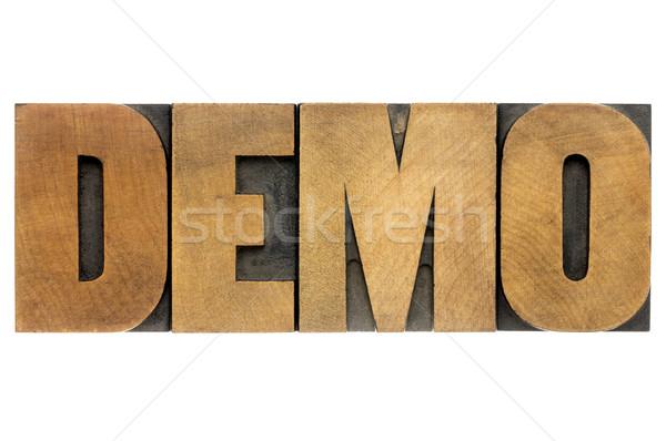 デモ 言葉 木材 タイプ 孤立した ヴィンテージ ストックフォト © PixelsAway