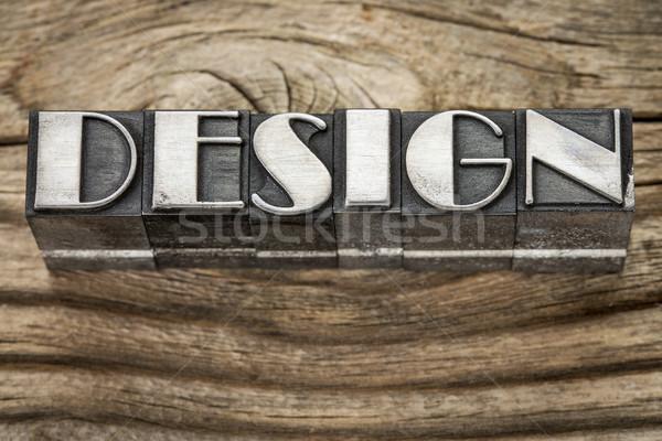 design word in metal type Stock photo © PixelsAway