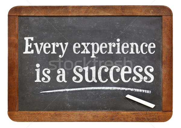 Esperienza successo motivazionale vintage concetto testo Foto d'archivio © PixelsAway