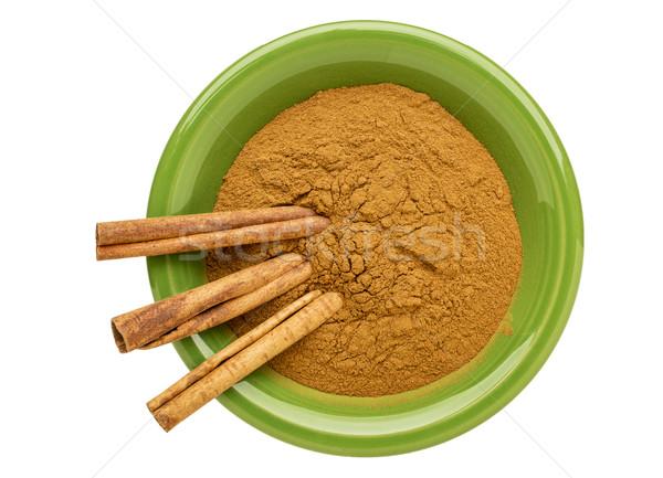 cinnamon (cassia)  powder and sticks Stock photo © PixelsAway