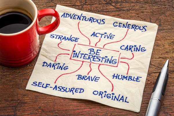 how to be interesting - positive character feature Stock photo © PixelsAway