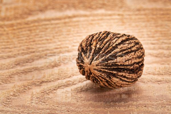 Negro nuez madera tuerca cedro Foto stock © PixelsAway