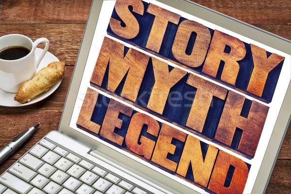 story, myth, legend word abstract Stock photo © PixelsAway