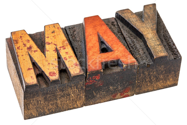 May month in wood type Stock photo © PixelsAway
