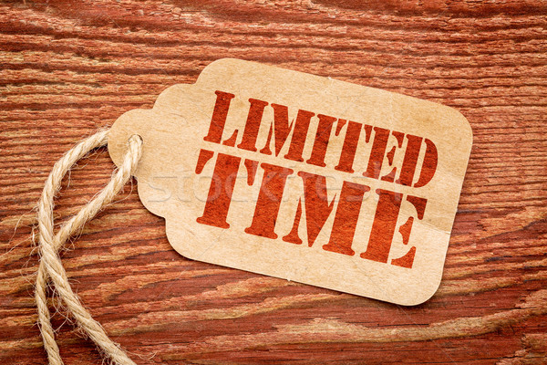 limited time offer price tag sign Stock photo © PixelsAway