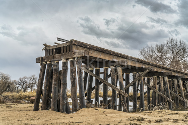railroad timber trestle destroyed Stock photo © PixelsAway
