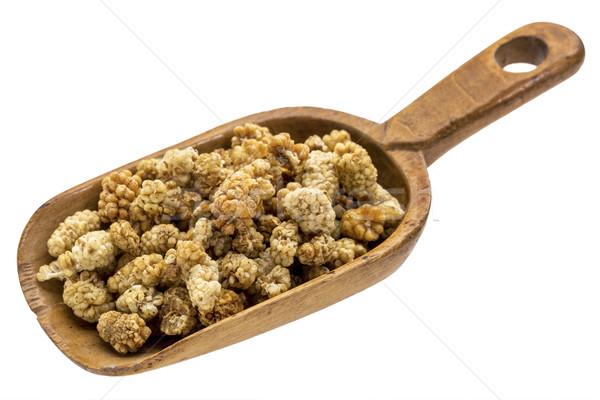 rustic scoop of dried mulberries Stock photo © PixelsAway