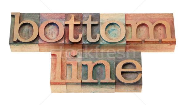 Inférieur ligne bois fonts net résultat Photo stock © PixelsAway