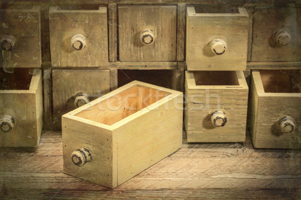 primitive grunge drawer cabinet Stock photo © PixelsAway