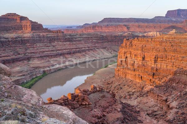 Sunrise rivière au-dessous eau désert Photo stock © PixelsAway