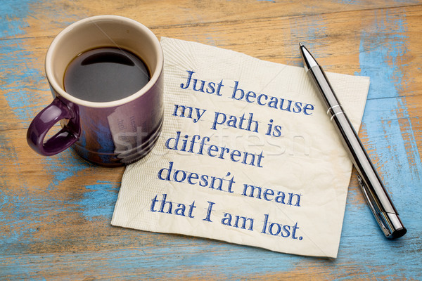 Just because my path is different ... Stock photo © PixelsAway