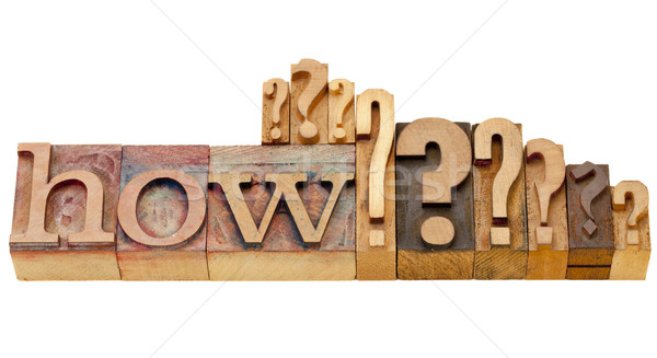 Stock photo: how question in lettepress type