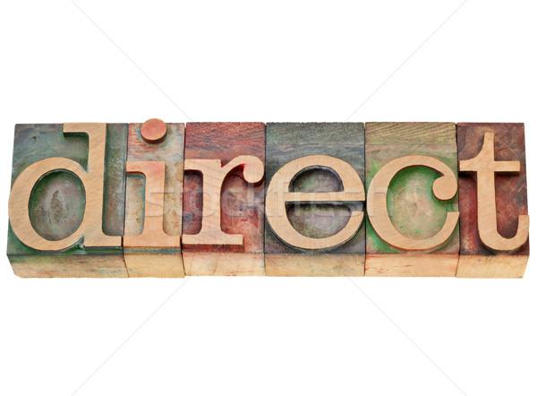 Kierować słowo typu odizolowany vintage Zdjęcia stock © PixelsAway