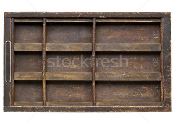 vintage grunge wood printer drawer Stock photo © PixelsAway