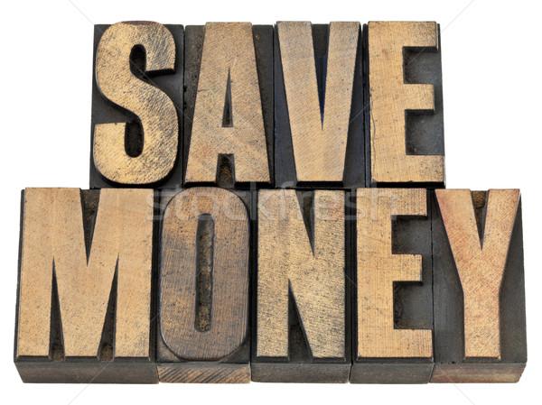 Megtakarítás fa kifejezés pénzügyi izolált Stock fotó © PixelsAway