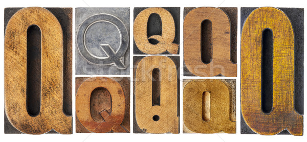 letter Q in wood type blocks Stock photo © PixelsAway