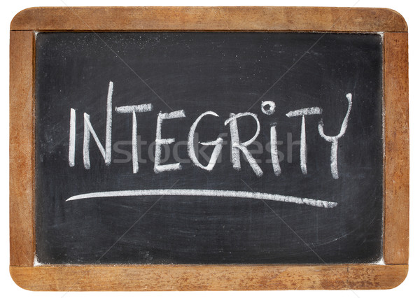integrity word on blackboard Stock photo © PixelsAway