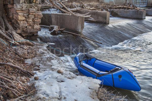 Nehir ışık sal kullanılmış sefer macera Stok fotoğraf © PixelsAway