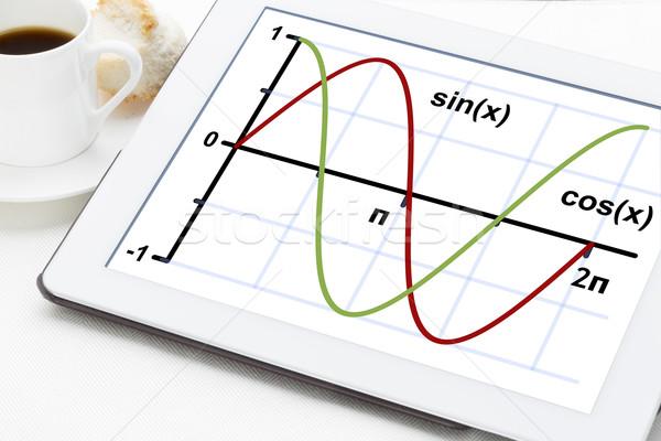 sine and cosine functions  Stock photo © PixelsAway