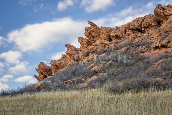 Zandsteen klif Colorado park fort Stockfoto © PixelsAway