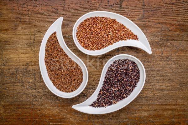 kaniwa, red and black quinoa grain Stock photo © PixelsAway