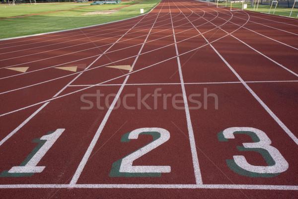 starting line of a running ltrack Stock photo © PixelsAway