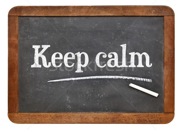 Keep calm advice or reminder Stock photo © PixelsAway