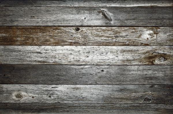 Donkere rustiek schuur hout verweerde nagel Stockfoto © PixelsAway