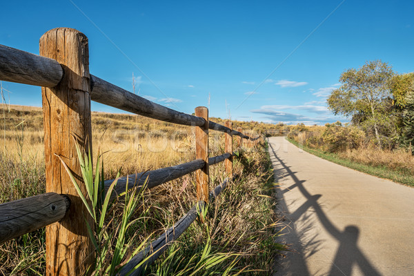 wooden fence and bike trail Stock photo © PixelsAway