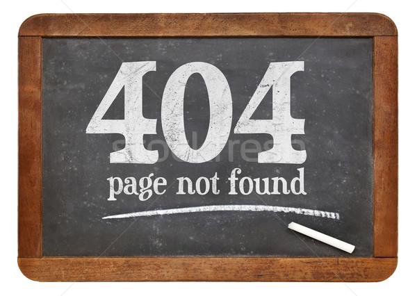 Page pas 404 erreur blanche craie Photo stock © PixelsAway
