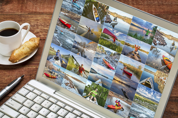 kayak and canoe picture review Stock photo © PixelsAway