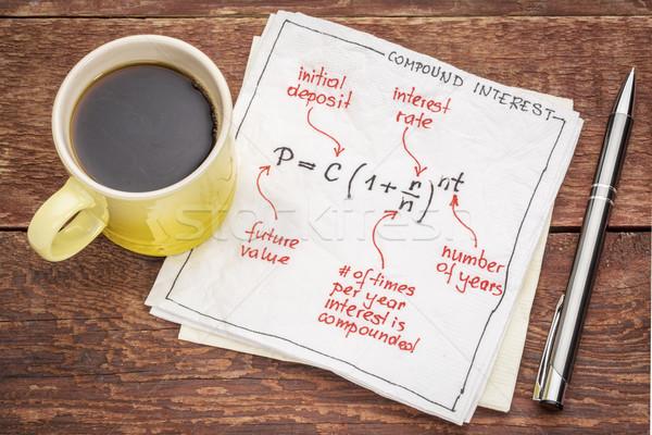 compound interest equation  Stock photo © PixelsAway