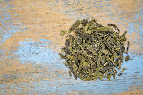 緑茶 緩い 葉 グランジ 木材 ストックフォト © PixelsAway