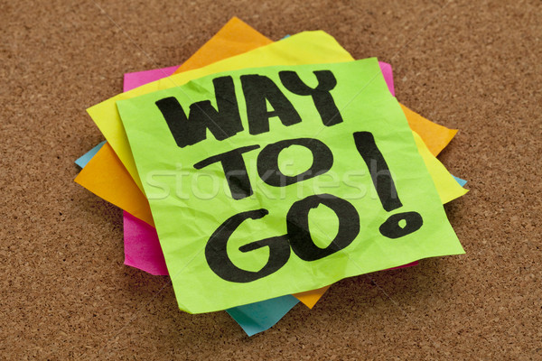 way to go on sticky note Stock photo © PixelsAway