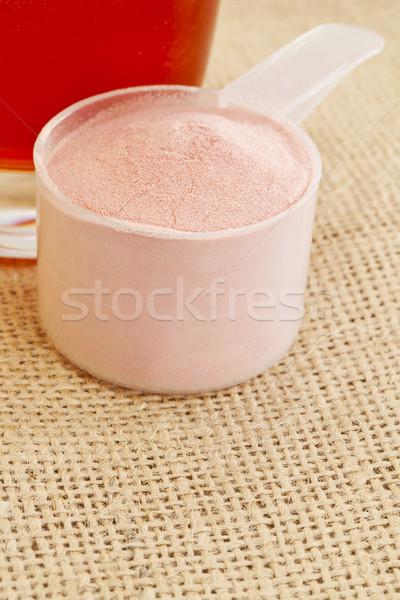 pomegranate powder and juice Stock photo © PixelsAway