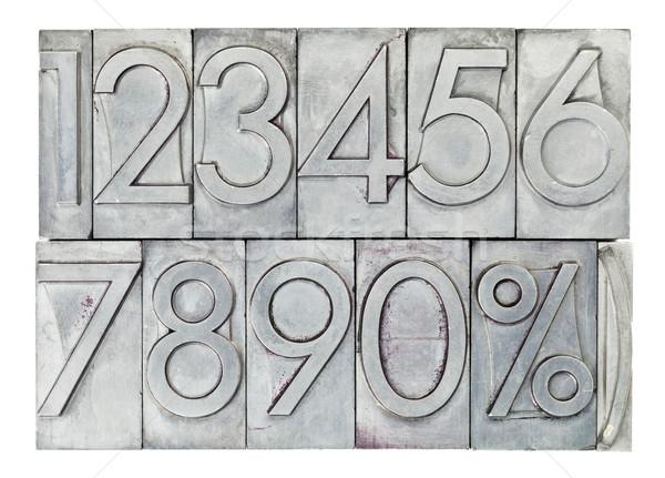 numbers in vintage metal type Stock photo © PixelsAway