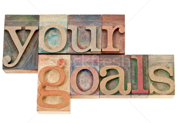 your goals in wood type Stock photo © PixelsAway