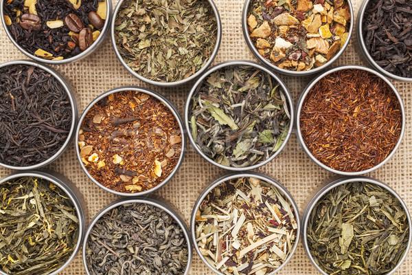 Verde branco preto chá medicinal solto Foto stock © PixelsAway