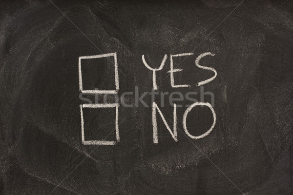 yes and no checkboxes on blackboard Stock photo © PixelsAway
