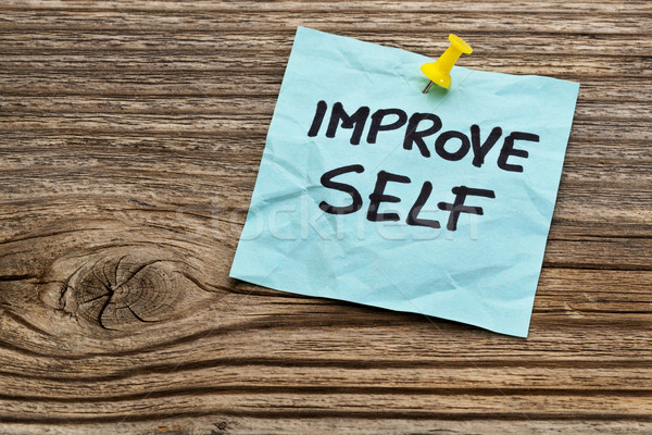 improve self motivational reminder Stock photo © PixelsAway