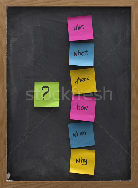 Problémamegoldás ötletelés iskolatábla egyszerű kérdések mi Stock fotó © PixelsAway