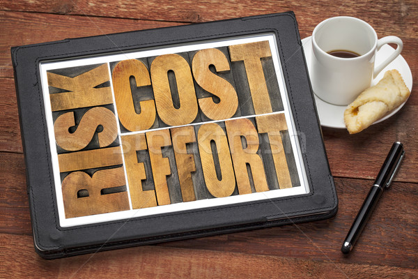 cost, effort, risk - business concept Stock photo © PixelsAway